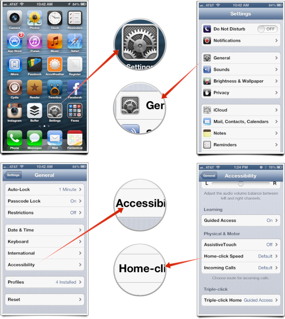 Change Home Button Click Speed iPhone and iPad