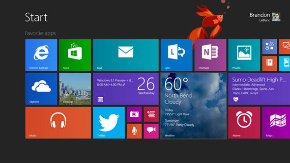 Tablet running on Windows 8.1