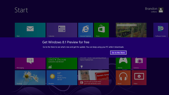 Windows 8.1 Preview Download Link