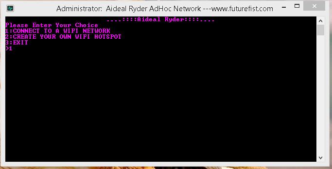 Connect Adhoc Hotspot