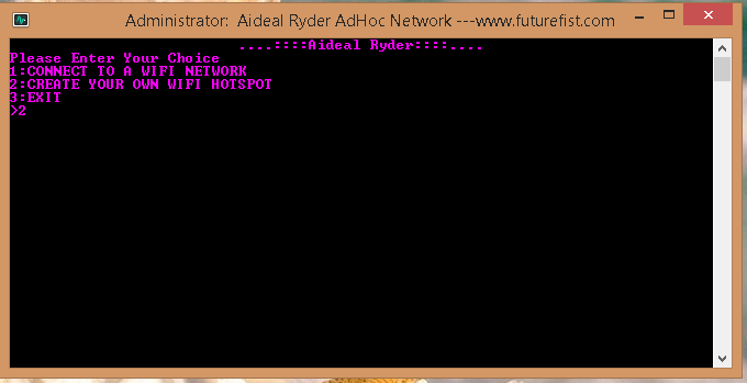 Create Hotspot Adhoc Windows 8.1 1