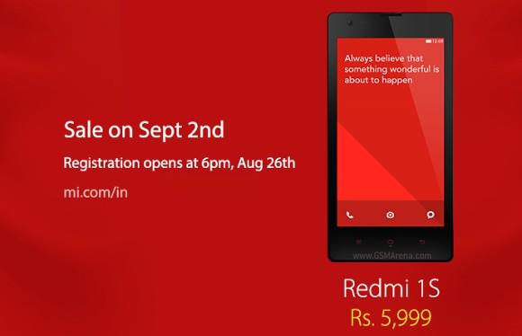 Xiaomi Redmi 1S Flipkart Sale