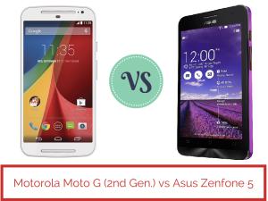 Motorola Moto G (2nd Gen.) vs Asus Zenfone 5