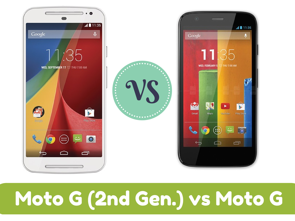 Motorola Moto G2 (2nd Gen.) vs Moto G