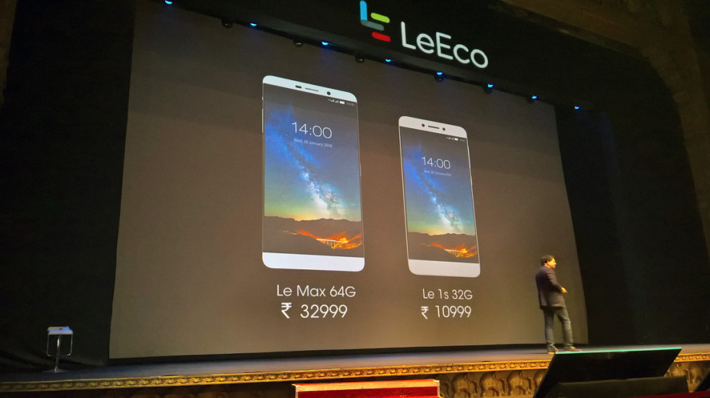 LeEco Le Max and Le 1S Specification, Price in India