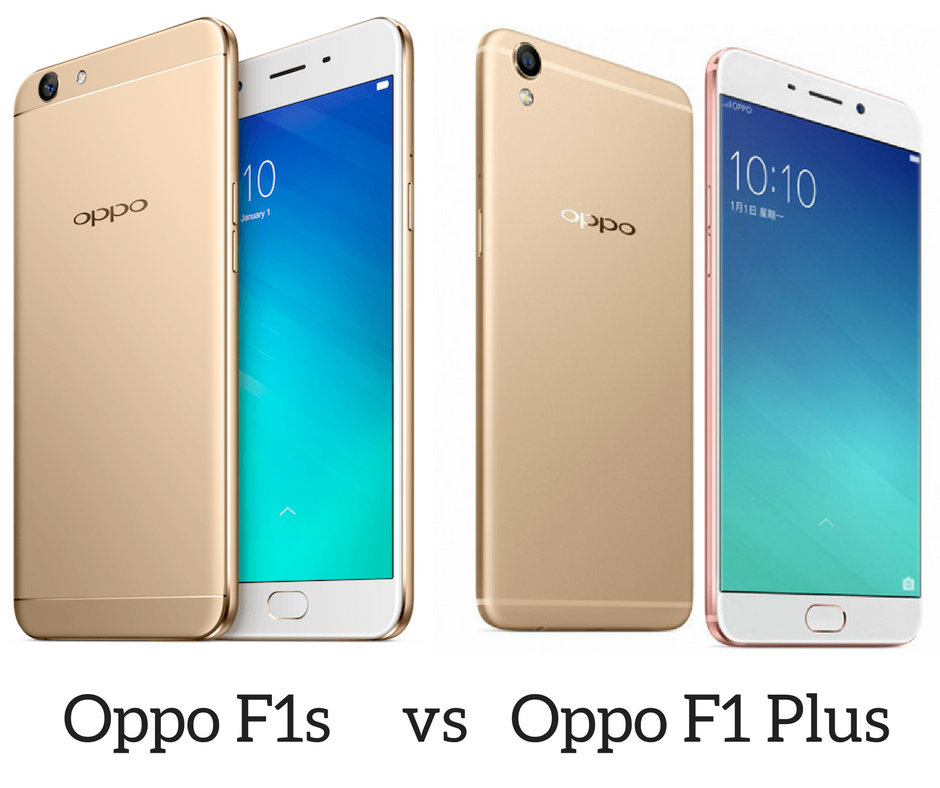 Oppo F1s vs Oppo F1 Plus Specs Price India