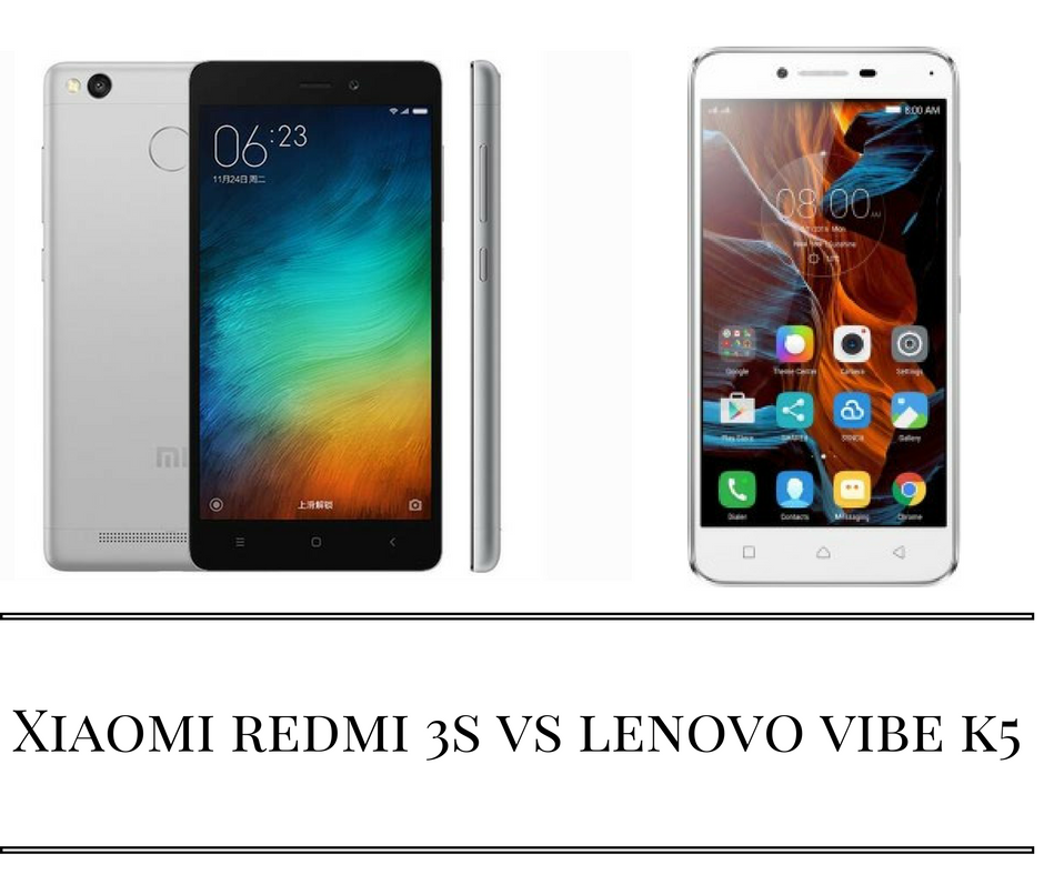 Xiaomi Redmi 3S vs Lenovo Vibe K5 Note Plus