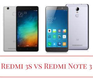 Xiaomi Redmi 3s vs Xiaomi Redmi Note 3 – Specs and Price in India