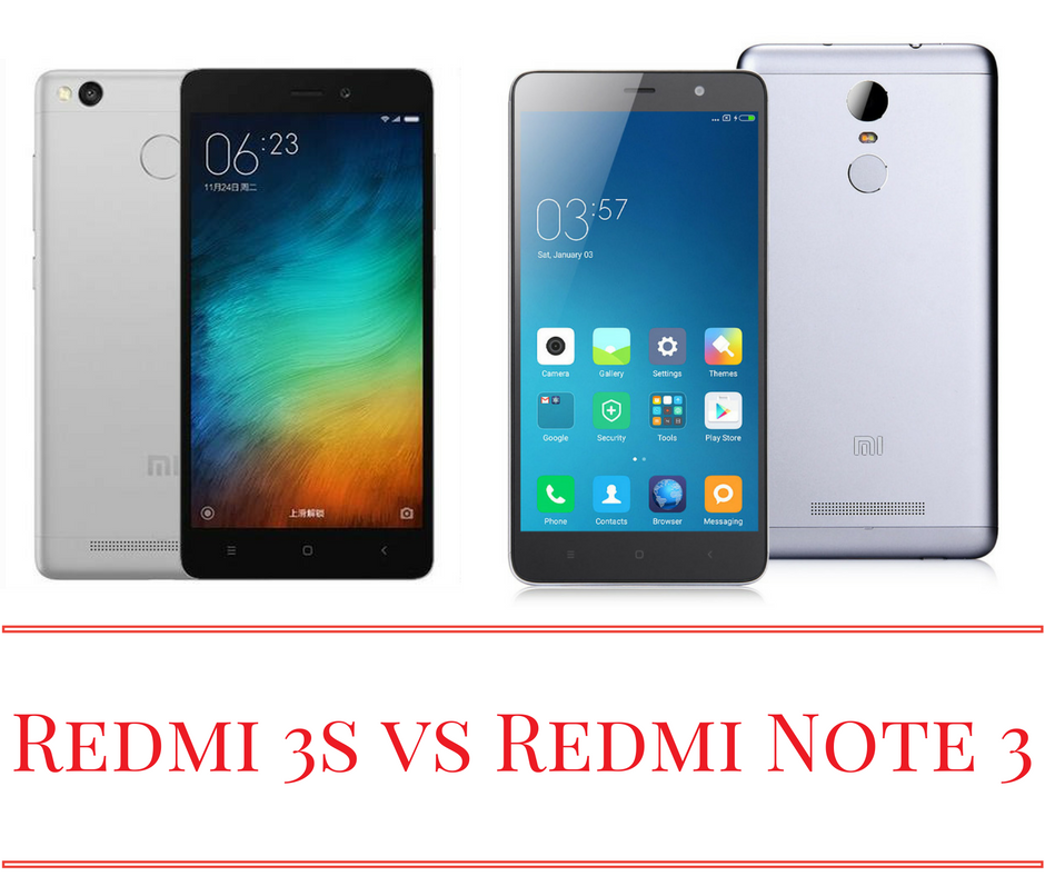 Xiaomi Redmi 3s vs Xiaomi Redmi Note 3 – Specs and Price in India Xiaomi Redmi 3s vs Xiaomi Redmi Note 3 – Specs and Price in India
