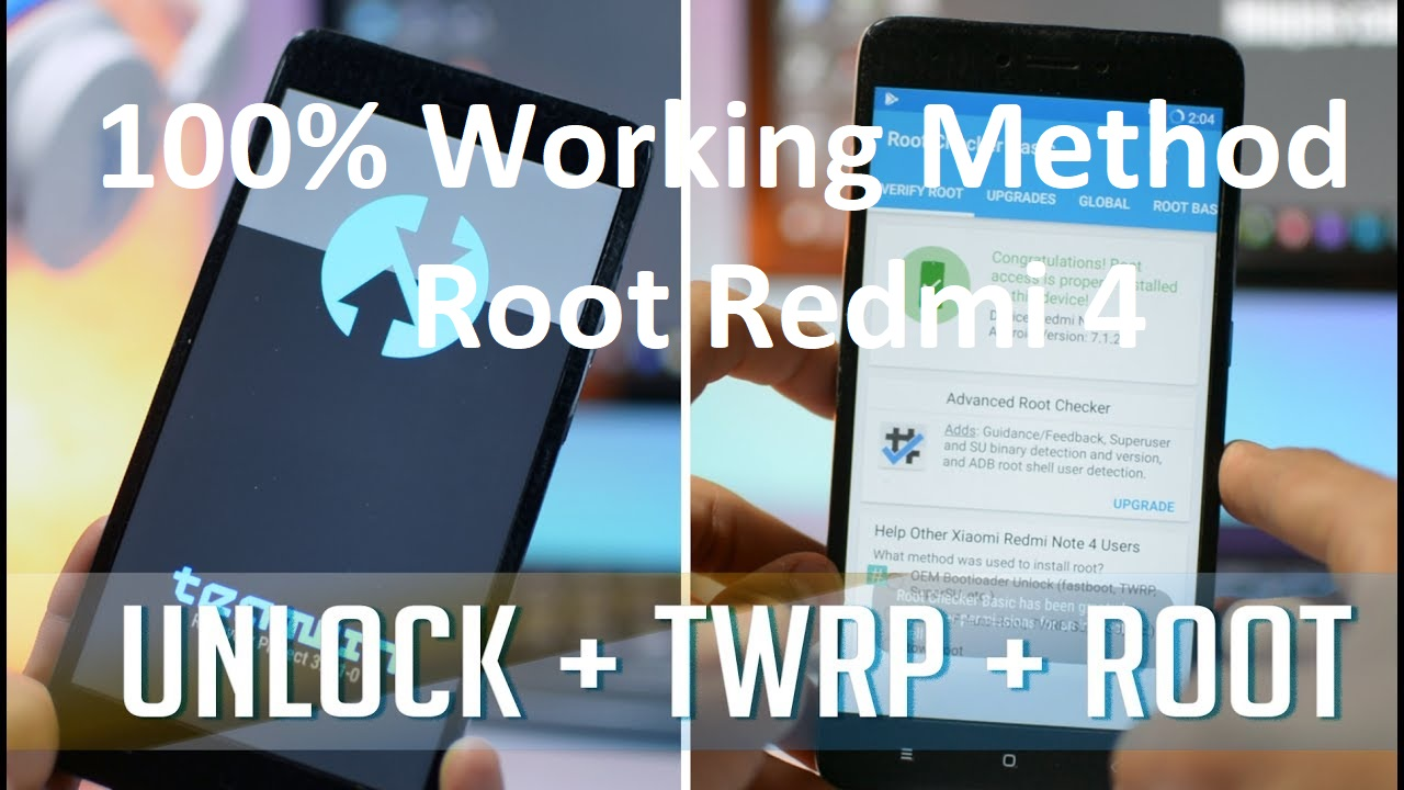 Unlock TWRP Root Redmi 4